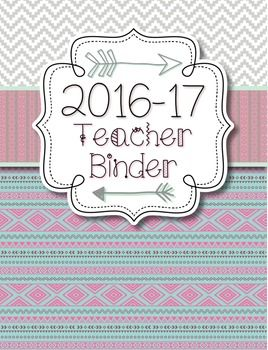 Version: 2016-17 School Year - **FREE UPDATES EACH YEAR!**This teacher binder set includes the following: binder covers and spine labels (with and without dates), binder tabs, Parent Communication Log, Professional Development Log, Meeting Notes form, Logins/Passwords form, Websites to Remember form, Notes form, Student Birthdays form, July 2016-July 2017 Teacher Calendar, student information binder cover, Gradebook form, and Student Information form.Be sure to view the preview!NOTES:-The…