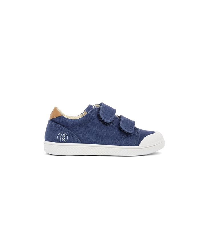 10is Shoes Ten Velcro Twill Spiga navy