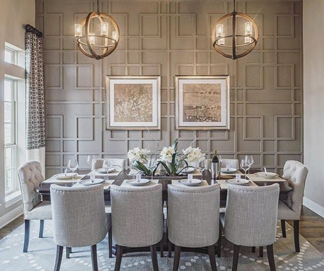 Accent Wall Panelling Elegant Dining Room Dining Room Wall Decor Elegant Dining