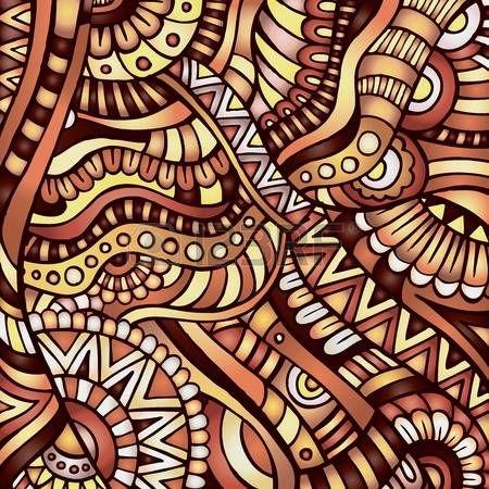 Dekorativen orange Zier ethnische Vektor-Muster Hintergrund photo