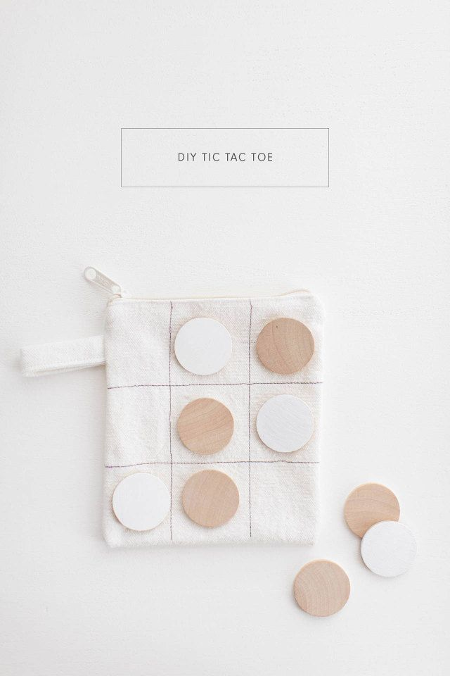 DIY Tic Tac Toe. This would make a great gift for kids, or a travel game idea for the kiddos on a road trip.