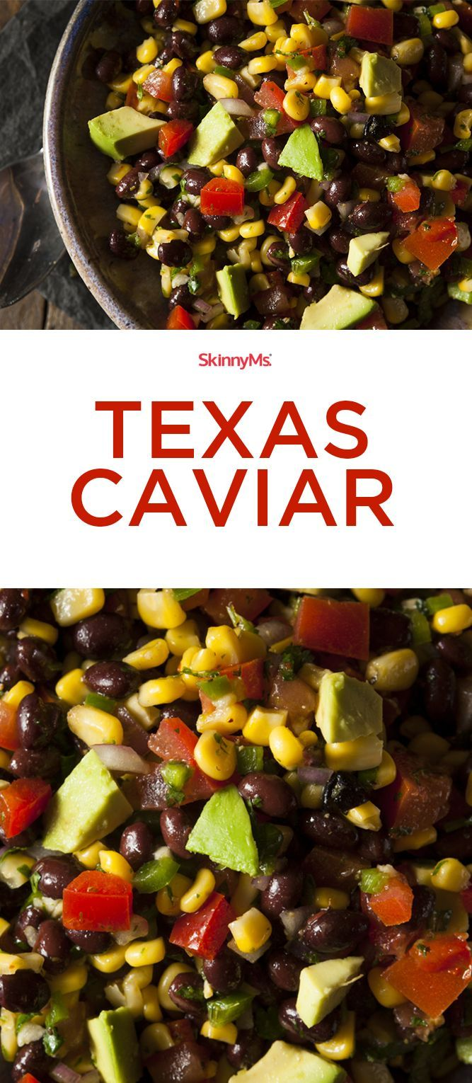 This Texas Caviar is only 176 calories per serving and 5 Smart Points. It's so healthy and soooo good!