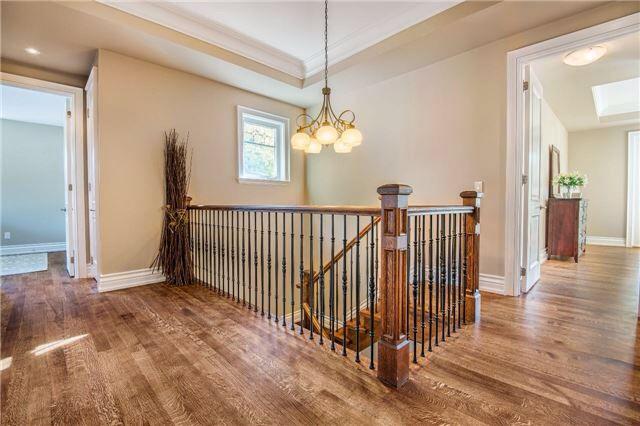 Stunning hardwood flooring and wrought iron stair case - 2nd floor