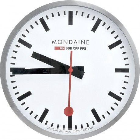 Mondaine Classic Swiss Railway Clock Chrome