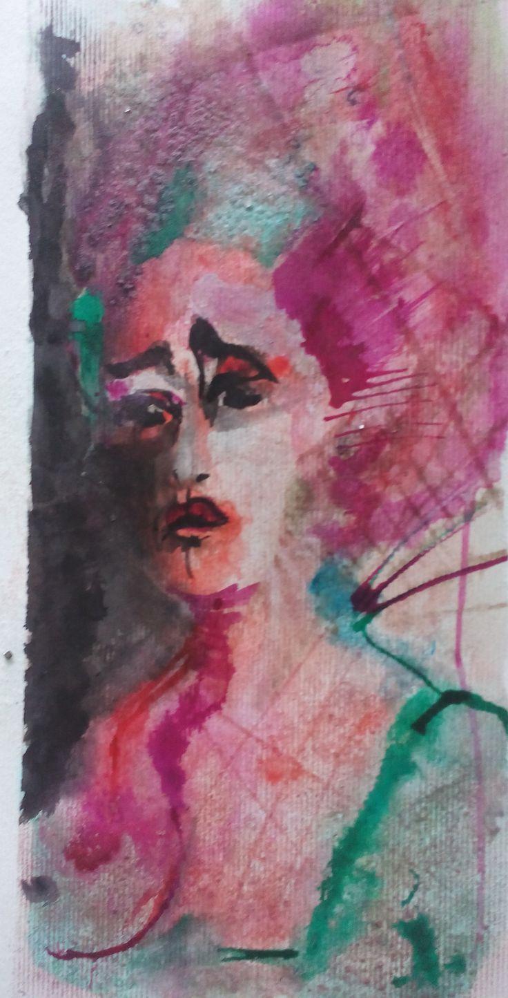 Portrait Baroque, ink on paper by Tatjana Danilovic