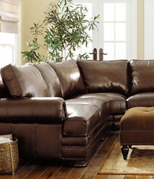 Bernhardt Seth 2 Piece Leather Sectional Dillard S Mobile Furniture