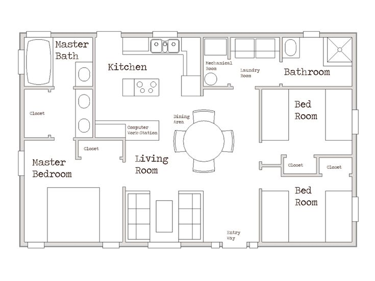 Small House 1000 sq ft cozy three bed room home