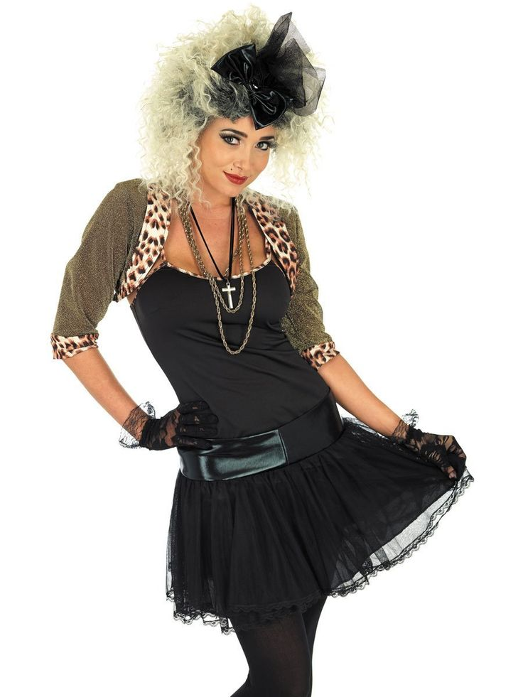 Madonna black dress 80s themed