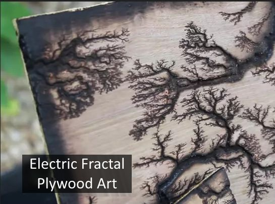 Amazing Fractal Art using plywood and a microwave transformer: http://i.imgur.com/rjd0ybv.gifv