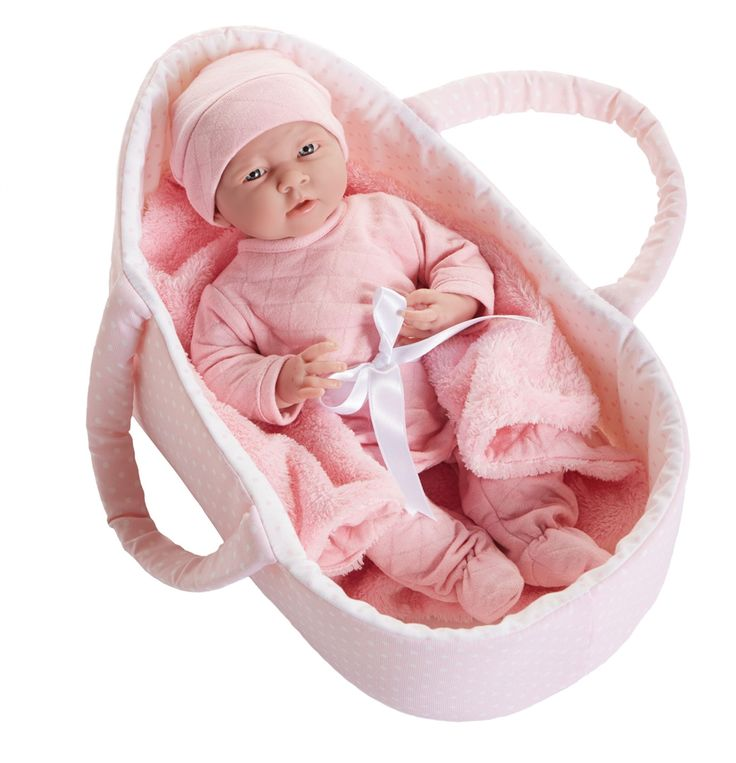 Get ready to fall in love with this realistic newborn baby doll set from JC Toys! Our La Newborn Deluxe Layette Gift Set is perfect. Free shipping $100+!