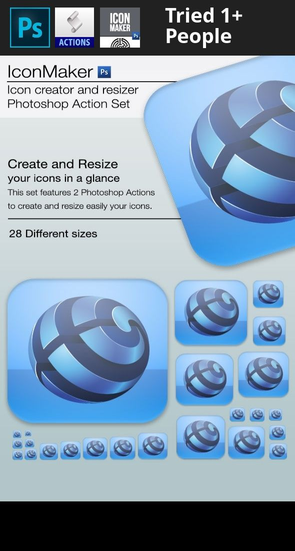 app, formats, icon, photoshop, plugin, resize iconMaker is a set of 2 actions for Adobe Photoshop that will allow you to create and/or resize your icons in seconds.   Features  Creator starts from a blank .psd file and your logo and will create your fully customizable app icon Resizer generates 28 icon formats