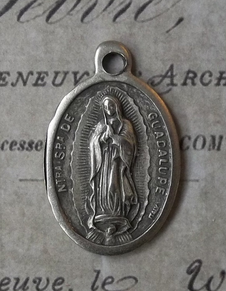 Our Lady Of Guadalupe Patron of the Americas, Blessed Virgin Mary Mother Of God, Pray For Us Italian Holy Medal