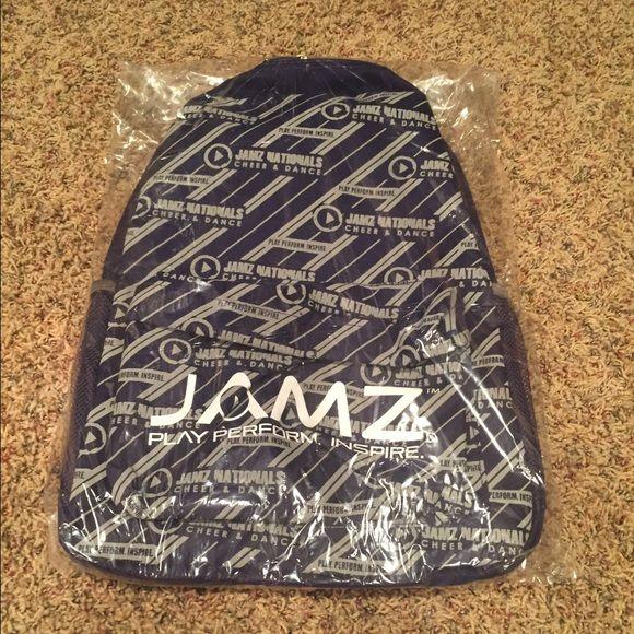 JAMZ Cheer Backpack NEW in original packaging JAMZ cheer backpack from JAMZ Nationals Competition. Smoke free home. Nfinity Bags Backpacks