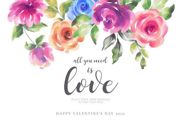 Fiori Con La S.Scarica Gratis Romantico San Valentino Sfondo Con Fiori Colorati