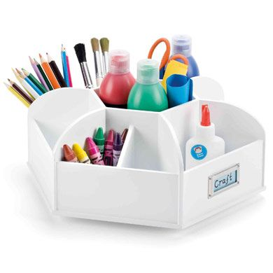 craft desk storage ideas spinning desk organiser for classrooms or the home 3763