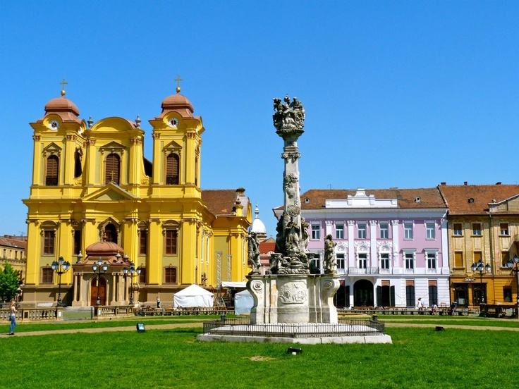 The square in Timisoara, Romania