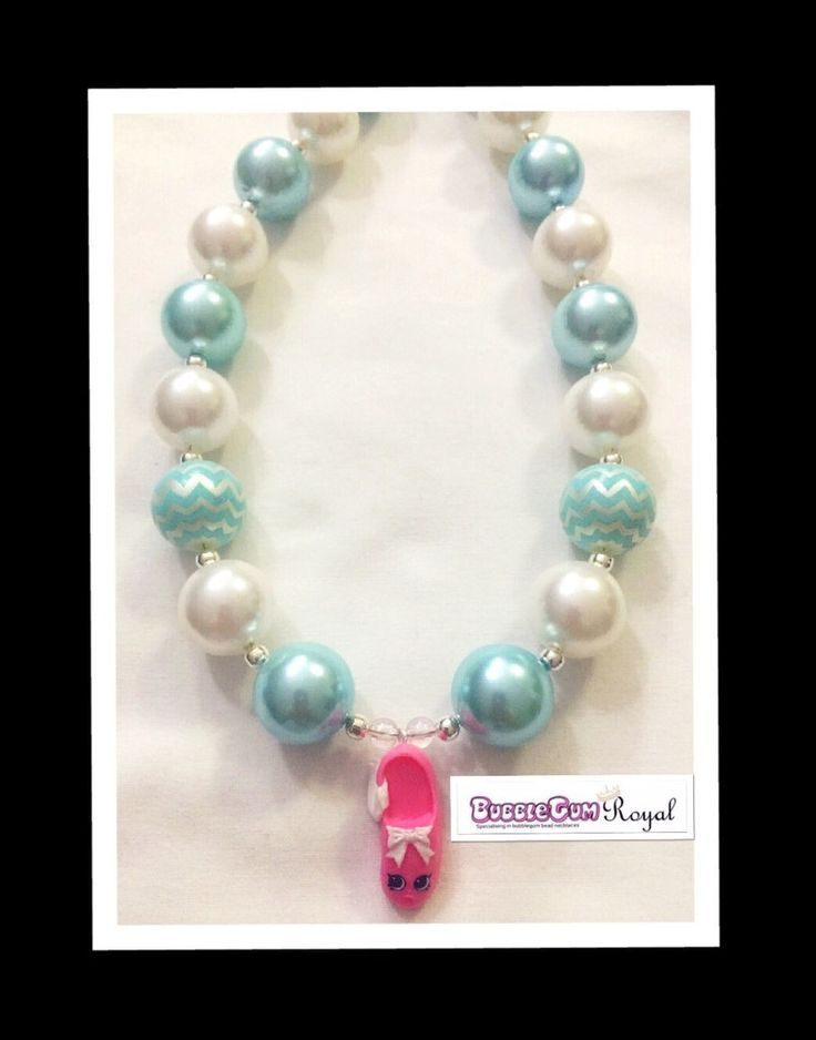 Shopkins Tiny 2 Bubblegum Bead Necklace