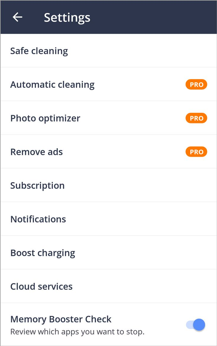 Avast Cleanup Settings Overview