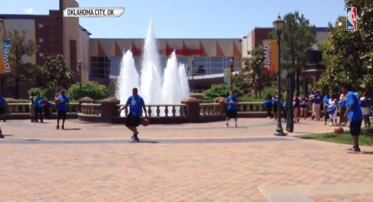 Watch: NBA getting pumped for playoffs with flash mobs in OKC, across U.S. CLICK ON PICTURE. REALLY REALLY COOL!