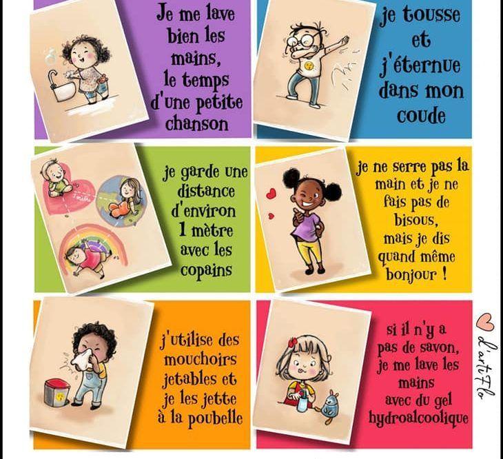 Deconfinement Et Ecole Les Gestes Barrieres En 6 Illustrations Adorables Pa Deconfinemen Back To School Activities School Activities Montessori Education