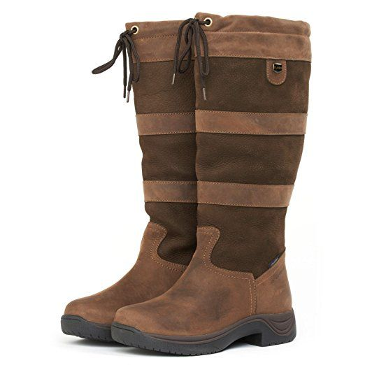 Dublin River Boots With Waterproof Membrane - Chocolate Wide Calf: Adults 5