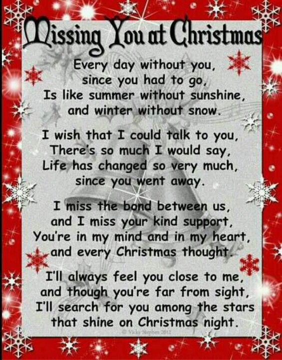 You're in my mind and in my heart and every Christmas thought . . . I love you Dad.