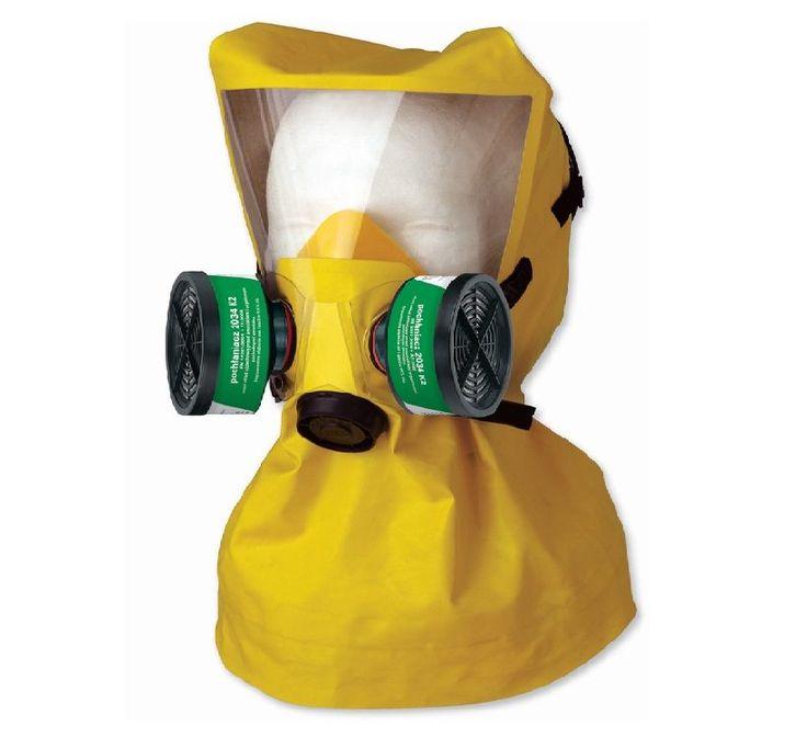 Ucieczkowy kaptur ewakuacyjny Secura 2000 K/E-2 K2, służy do jednorazowego użytku, w celu ewakuacji ze strefy skażonej amoniakiem i jego pochodnymi organicznymi - aminy takie jak , metyloamina, dwumetyloamina, etyloamina. Zapewnia również ochroną wzroku i twarzy.