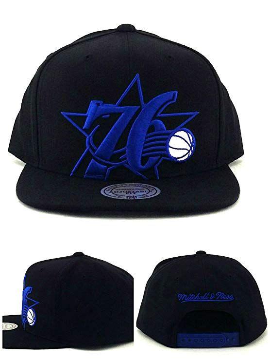 sale retailer a6daf d3fa4 Mitchell   Ness Philadelphia 76ers New Sixers Black Blue Era Snapback Hat,   26.99