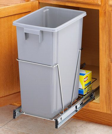 Take a look at this Chrome 40-Qt. Sliding Trash Bin Holder by Whitmor on #zulily today!