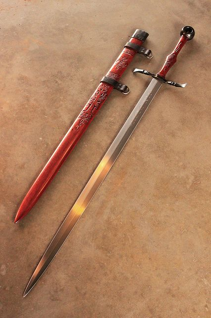 Arming Sword and Scabbard, crafted by DelaGardelle of the Cedarlore Forge