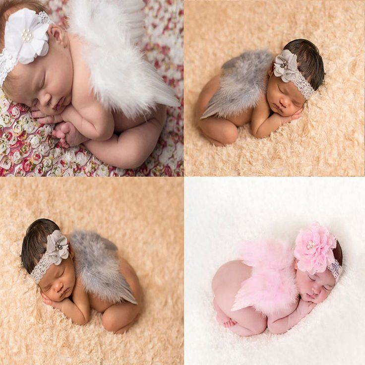 Hot Baby Newborn Flower Headband+Wing Costume Photo Photography Prop Outfits Set