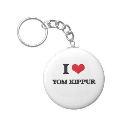 I Love Yom Kippur Keychain - accessories accessory gift idea stylish unique custom