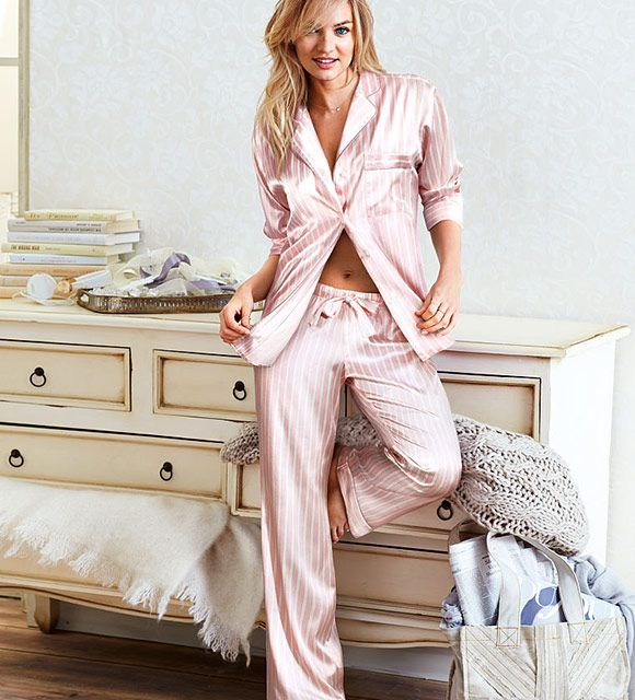 Afterhours Satin Pajama is part of the #lingerie collection on Haute Day.  Check out http://hauteday.com/