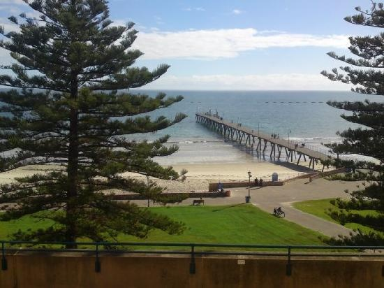 Glenelg, South Australia - on the ocean, beautiful historical buildings, and a 15 km tram ride to Adelaide. This is what we looked at from our apartment! Gorgeous!