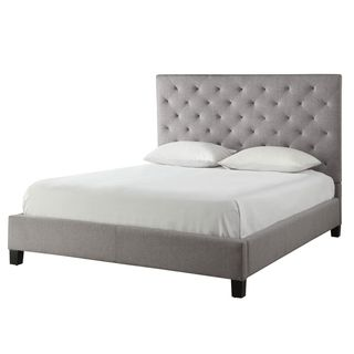 Sophie Grey Linen Tufted Platform King Bed | Overstock.com Shopping - The Best Deals on Beds