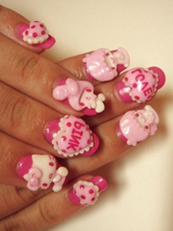 hello kitty nail art trend ideas 2012 - Nail Design Ideas 2012