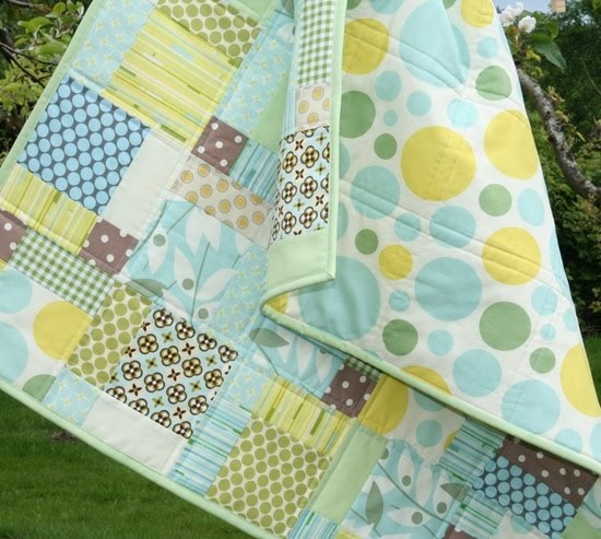 baby quilt--this site has tons of quilt ideas - my friends better start pushing them out soon. I've got fabric to use people!