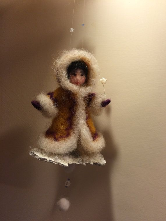 Needle felted doll Waldorf inspired Wool Christmas by DreamsLab3