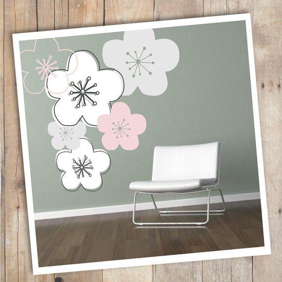 sticker personnalisable fleur de cerisier japonais kawaii japanese cherry blossom