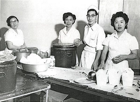 Uncle Fudge and Aunt Dora owners of now closed Pagoda Restaurant in Salt Lake where my older brother and I worked for a bit. Also Fudge sister Tsuru was in charge of front hostess.  They opened the restaurant in 1946 at a different location then moved to E Street. They had been at internment camps during World War II.   When they opened they called themselves a oriental restaurant to avoid Japanese stigma.