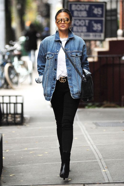 Chrissy Teigen Does Casual-Chic In Fall Classics
