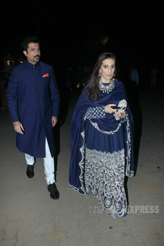 Anil Kapoor arriving with his wife Sunita at Sanjay Hinduja's pre-wedding festivities. #Bollywood #Fashion #Style #Handsome