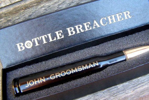 Groom Gift. Engraved Bottle Opener 50 Caliber Bullet with Bottle Breacher Box. Best Man Gift. Father of the Bride. Groomsmen Gift