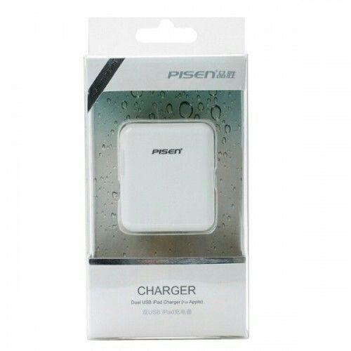 Cóc sạc Pisen Dual USB Charger 1.0A 2.0A có 2 cổng USB 1.0 A và 2.0 A cho phép bạn sạc cùng một lúc hai sản phẩm. Giá : 210.000đ