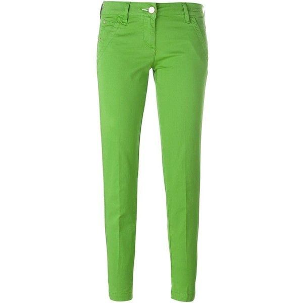 Jacob Cohen Skinny Jeans ($130) ❤ liked on Polyvore featuring jeans, pants, bottoms, green, skinny leg jeans, green jeans, skinny fit jeans, denim skinny jeans and cut skinny jeans