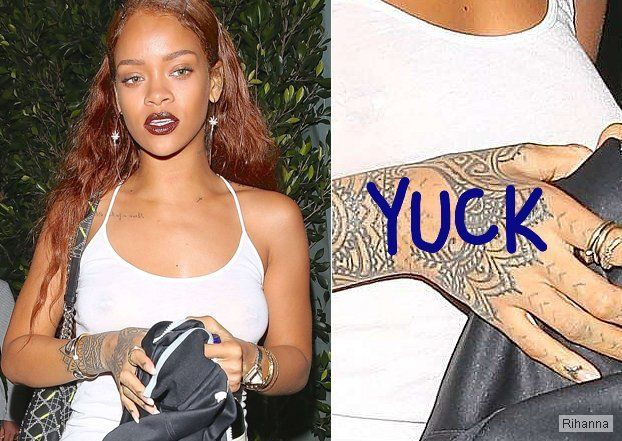 Rihanna tattoo hand