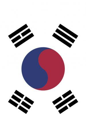 South Korea flag bag tag. Wear it loud and proud as you travel the globe with our personalised bag and luggage tags designed and printed in Melbourne shipped to the world.