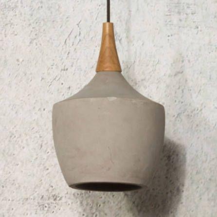 Concrete Pendant Lamp In Industrial Carafe Design