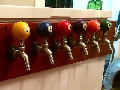 Any Pool Ball Beer Keg Tap Handle Kegerator New Real Billiard Ball Man Cave
