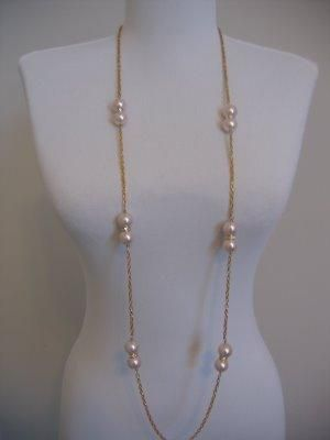 DIY JCrew Glass Pearl Necklace Tutorial DIY Jewelry DIY Necklace